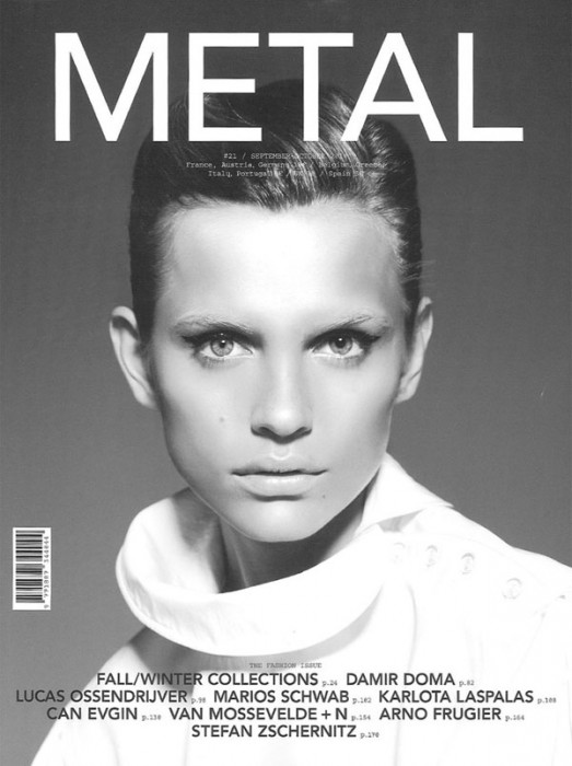 Metal Magazine #21 Fall 2010 Cover | Regina Feoktistova by San Sierra