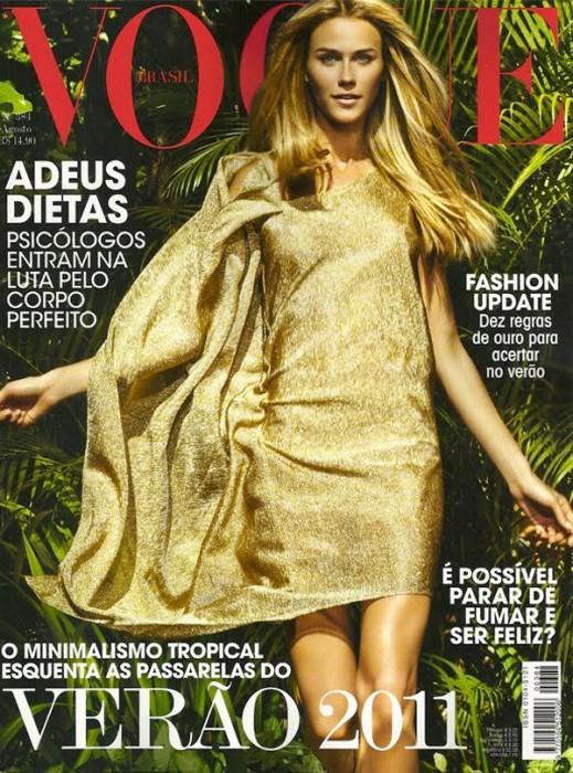 Vogue Brazil August 2010 Cover | Renata Kuerten by Jacques Dequeker
