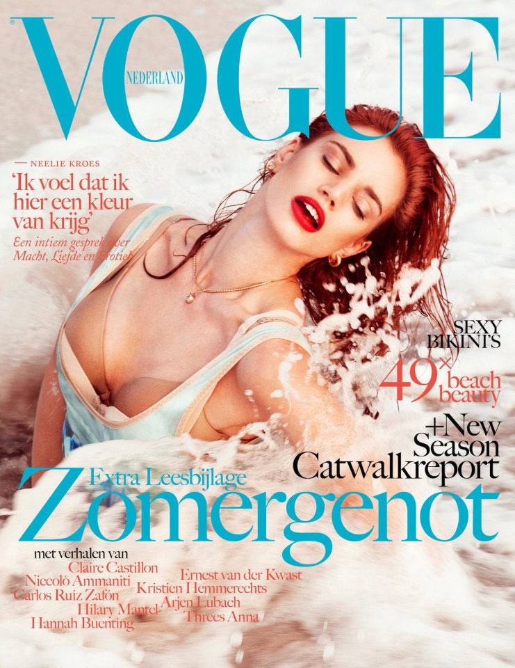 992f55bc Rianne ten Haken Catches Waves for Vogue Netherlands' July/August 2012 Cover
