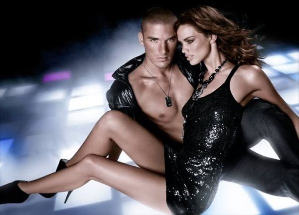 Armani Exchange Holiday 2009 Campaign | Rianne ten Haken & Kerry Degman by Matthew Scrivens