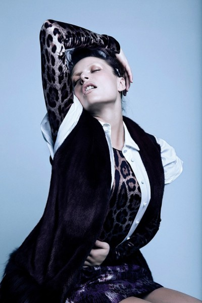 Rie Rasmussen by Francesco Carrozzini for <em>Vs. Magazine</em> F/W 2010