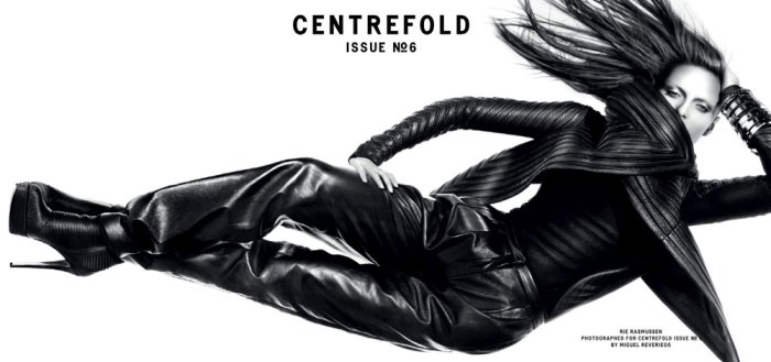 Centrefold #6 F/W 2010 Cover | Rie Rasmussen by Miguel Reveriego