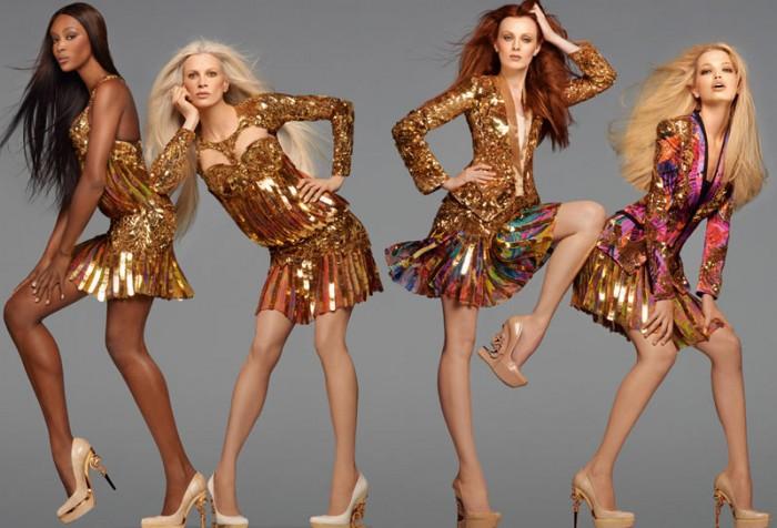 Naomi Campbell, Karen Elson, Kristen McMenamy & Daphne Groeneveld for Roberto Cavalli Spring 2012 Campaign by Steven Meisel