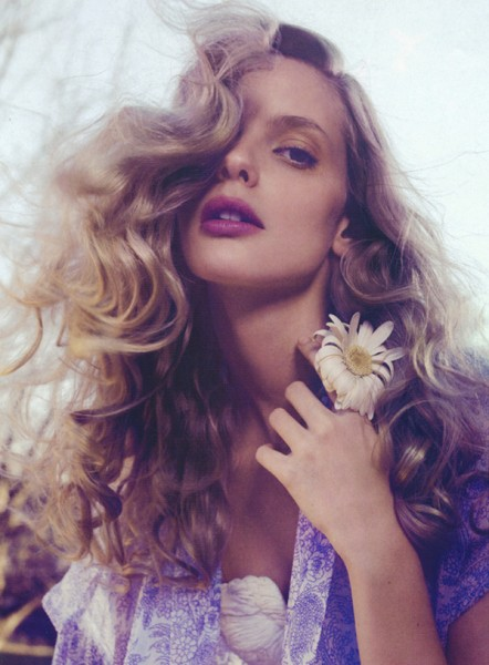 Spring in Bloom | Julia Stegner by Sanchez & Mongiello for <em>Vogue China</em> March 2007