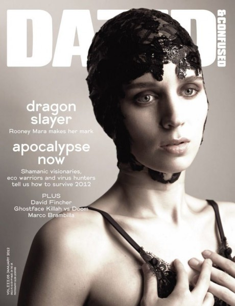 Rooney Mara by Glen Luchford for <em>Dazed & Confused</em> January 2012 (Cover)