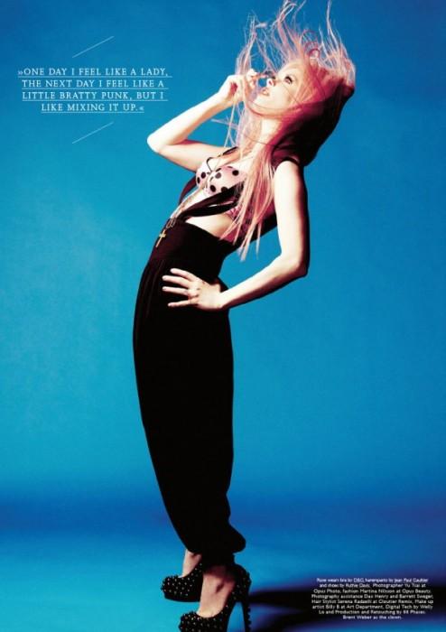 Rose McGowan for Contributor Magazine F/W 2010 by Yu Tsai
