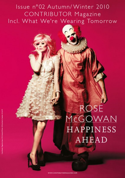 <em>Contributor Magazine</em> F/W 2010 Cover | Rose McGowan by Yu Tsai