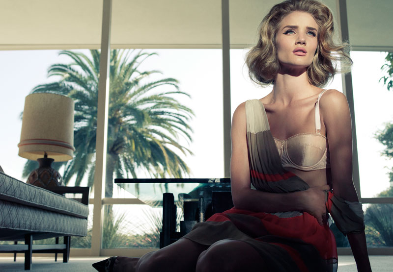 Rosie Huntington-Whiteley by Tom Munro for Harper's Bazaar UK
