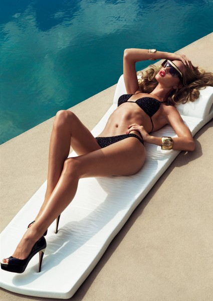 Rosie Huntington-Whiteley by Tom Munro for <em>Harper's Bazaar UK</em> January 2012