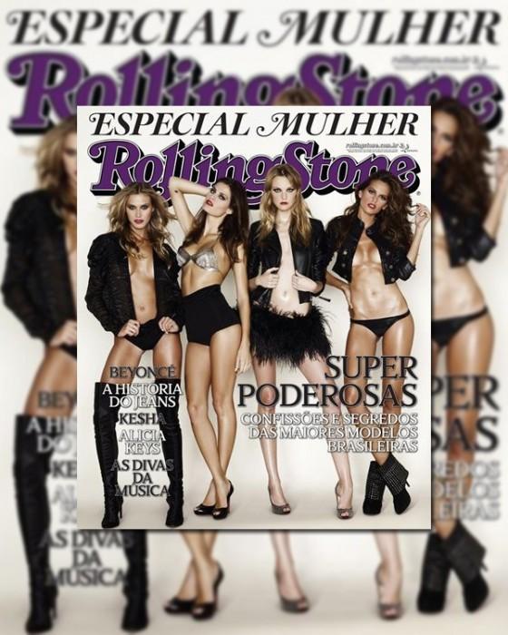 Rolling Stone Brazil March 2010 Cover |  Renata, Isabeli, Caroline & Izabel by Andre Schilirò