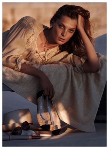 Salvatore Ferragamo Spring 2011 Campaign | Daria Werbowy by Mikael Jansson