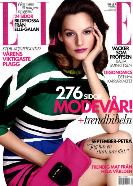 <em>Elle Sweden</em> March 2011 Cover | Sara Blomqvist by Jimmy Backius