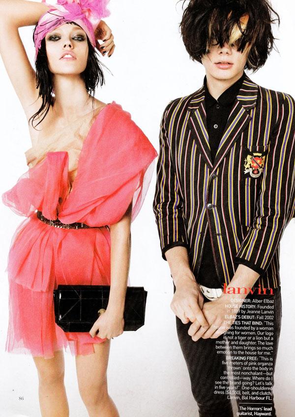 Vogue US January | Sasha Pivovarova by Steven Meisel