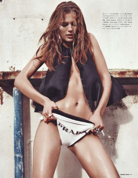 Edita Vilkeviciute by Sebastian Kim for Numéro Tokyo July/August 2010