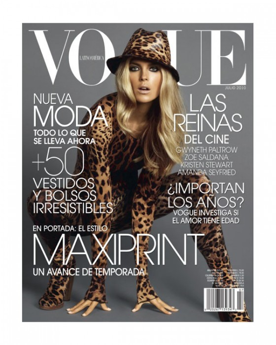 Vogue Latin America July 2010 Cover | Shannan Click by David Roemer