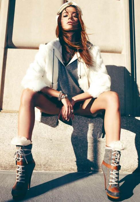 Sheila Marquez for Harper's Bazaar Spain January 2011 by Nagi Sakai