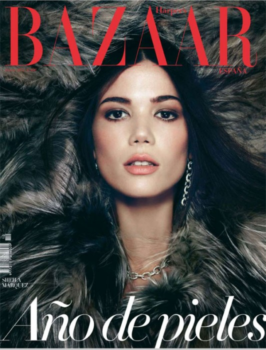 Harper's Bazaar Spain January 2011 Cover | Sheila Marquez by Nagi Sakai