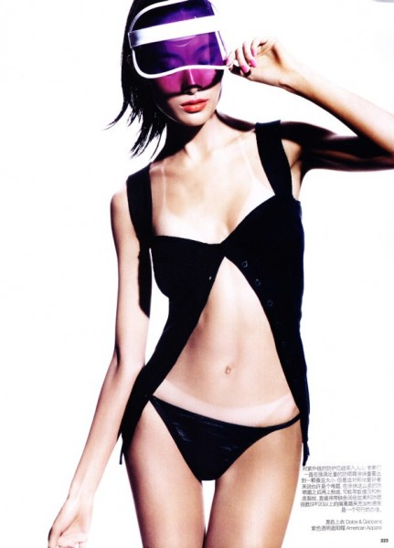 Shu Pei by Regan Cameron for <em>Vogue China</em> January 2011