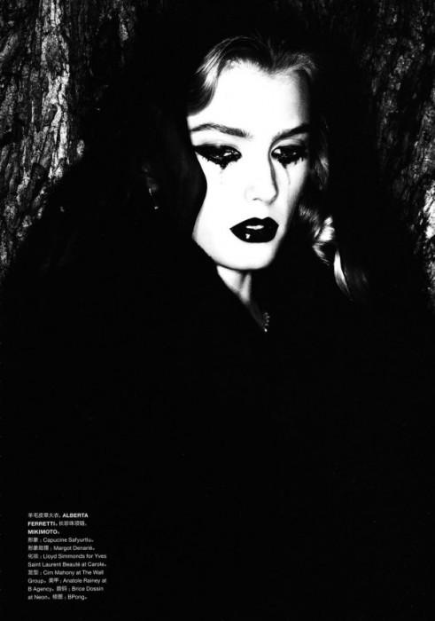 Sigrid Agren by Ben Hassett for Numéro China December 2010