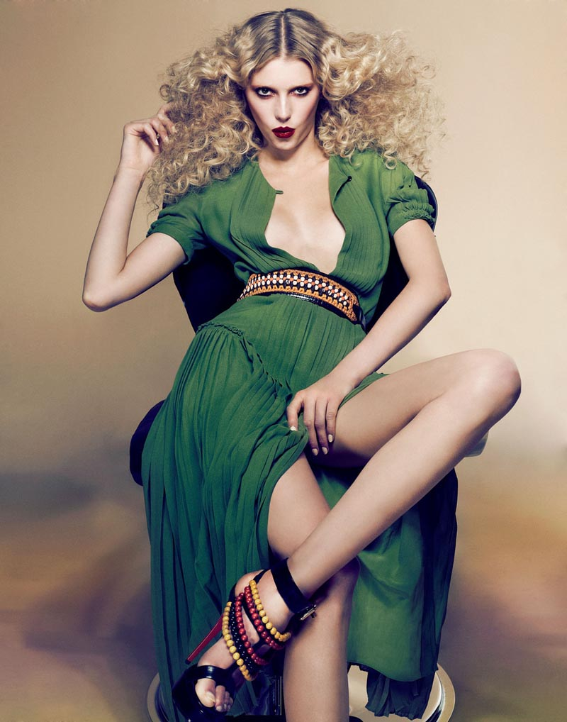 Sigrid Agren by Dusan Reljin in Burberry for W Korea April 2012