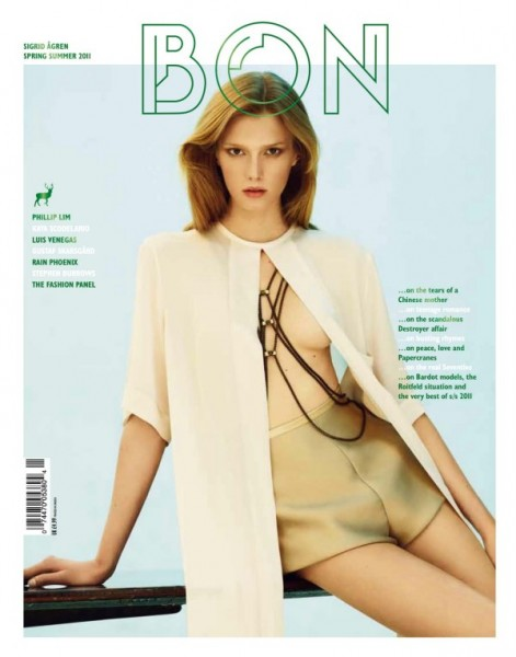 <em>Bon International</em> S/S 2011 Cover | Sigrid Agren by David Vasiljevic
