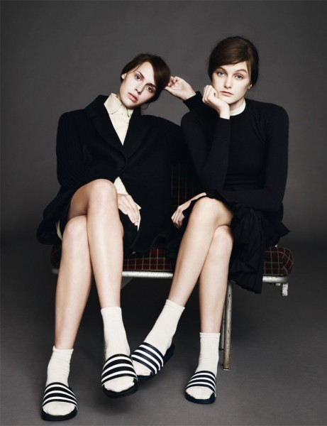 Andie Arthur & Georgia Hilmer by Aitken Jolly for <em>b Magazine</em> #5