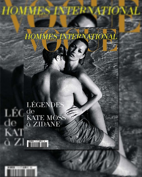 Vogue Hommes International Spring 2010 Cover | Kate Moss by Mario Sorrenti