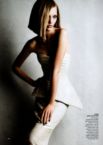 Sasha Pivovarova by Patrick Demarchelier for <em>Vogue US</em> November 2010