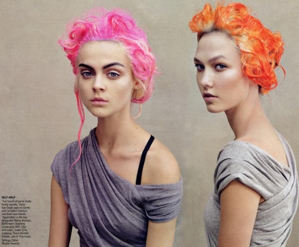Vogue US | Viktoriya S & Karlie Kloss by Patrick Demarchelier