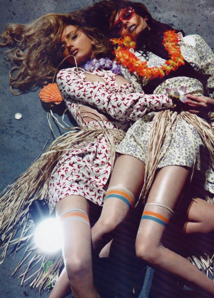 Monika Jagaciak & Lily Donaldson by Steven Klein | <em>Vogue Paris</em> April 2010