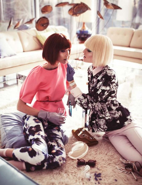 Alana Zimmer & Hanne Gaby Odiele by Steven Pan for Interview Russia April 2012