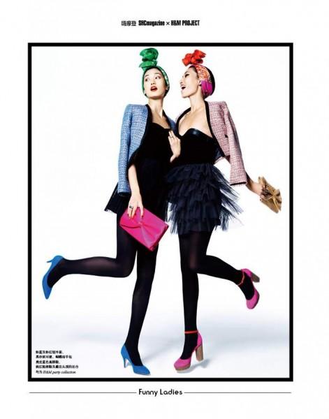 Xiao Wen, Lina Zhang & Ming Fei Ni by Stockton Johnson for SHC Magazine Winter 2011
