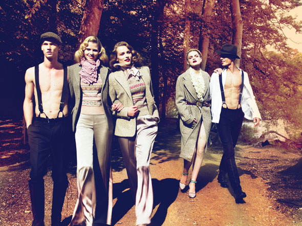 Sunday At the Park | Edita, Lara & Guinevere by Mert & Marcus for W Magazine