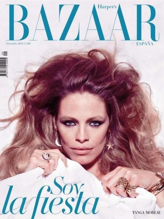 Harper's Bazaar Spain December 2010 Cover | Tanga Moreau by Nico