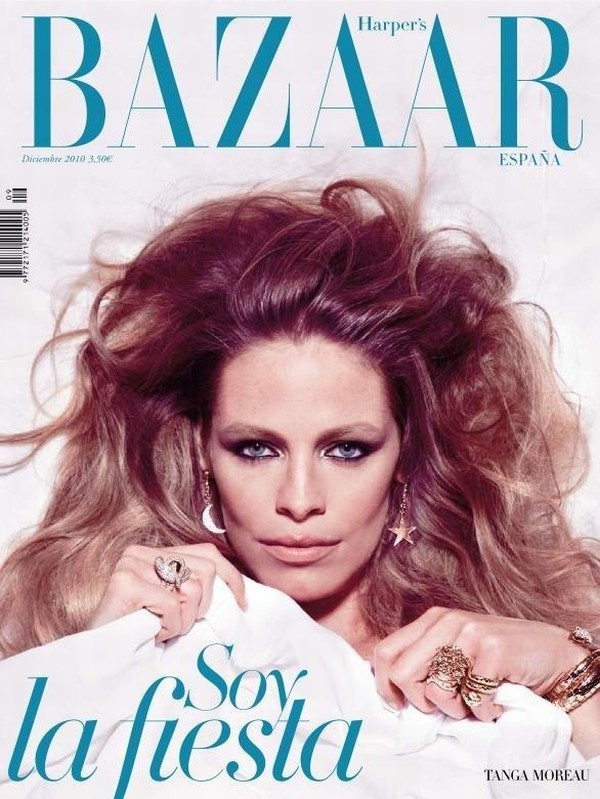 Harper's Bazaar Spain December 2010 Cover | Tanga Moreau by Nico