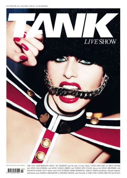 <em>Tank</em> Summer 2010 Cover by Ellen von Unwerth