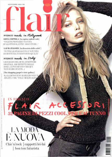 <em>Flair</em> September 2010 Cover | Tanya Dziahileva by Eric Guillemain