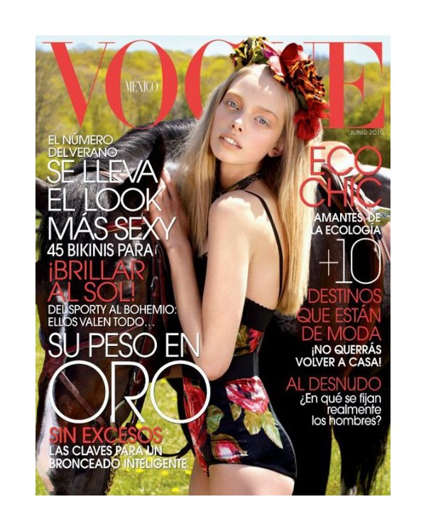 Vogue Mexico June 2010 Cover | Tanya Dziahileva by David Roemer
