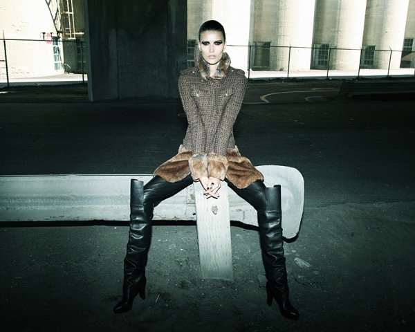 Tara Gill by Richard Bernardin for <em>Elle Canada</em> November 2010