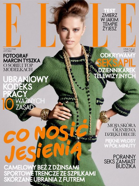 <em>Elle Poland</em> November 2010 Cover | Taryn Davidson by Paul Empson