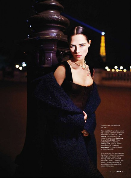 Tasha Tilberg by Kacper Kasprzyk for Elle US August 2010