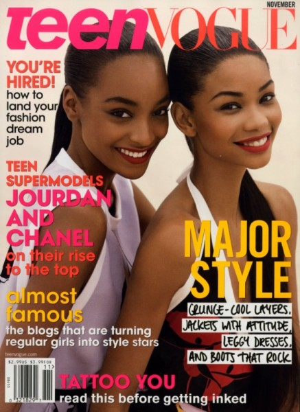 Teen Vogue November 2009 – Jourdan Dunn & Chanel Iman by Patrick Demarchelier