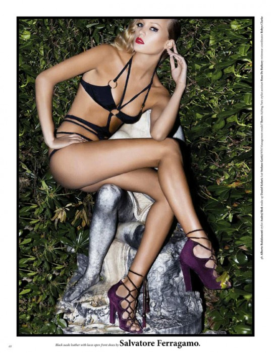 Theres Alexandersson Wears Sexy Shoe Looks for Viktor Magazine #4