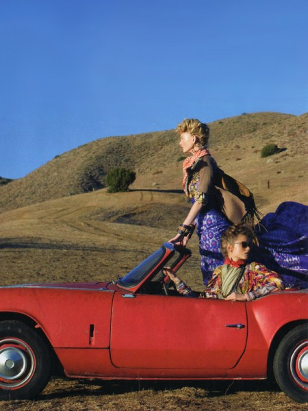 Vogue US | The Wanderers-Abbey Lee Kershaw, Patricia van der Vliet & Karlie Kloss by Arthur Elgort