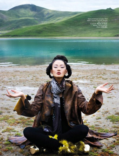 Zhang Fan for <em>Harper&#8217;s Bazaar Indonesia</em> November 2010 by Nicoline Patricia Malina