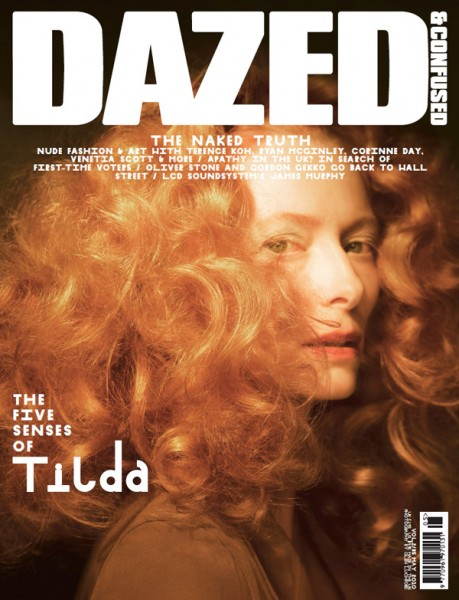 <em>Dazed &#038; Confused</em> May 2010 Cover | Tilda Swinton by Glen Luchford