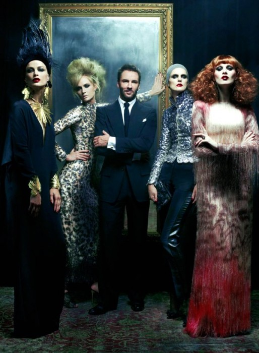 Mr. Ford Returns for Vogue US December 2010 by Steven Meisel