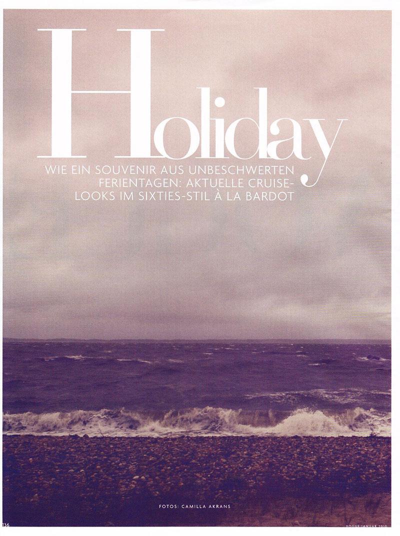 Vogue Germany January   Toni Garrn by Camilla Akrans