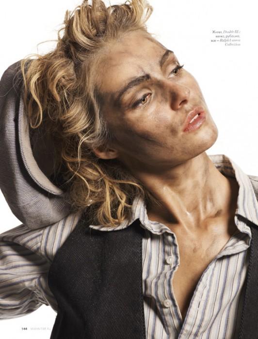Valentina Zelyaeva by Tony Kim for Elle Russia July 2010