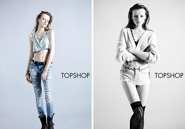 Topshop Spring 2010 Denim Campaign | Anastasia Kuznetsova by Ben Toms